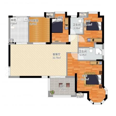 海门东恒盛国际公馆3室1厅6卫1厨146.00㎡户型图