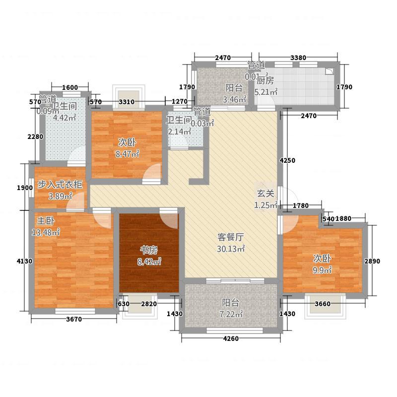 四季香榭42142.20㎡G户型4室2厅2卫1厨