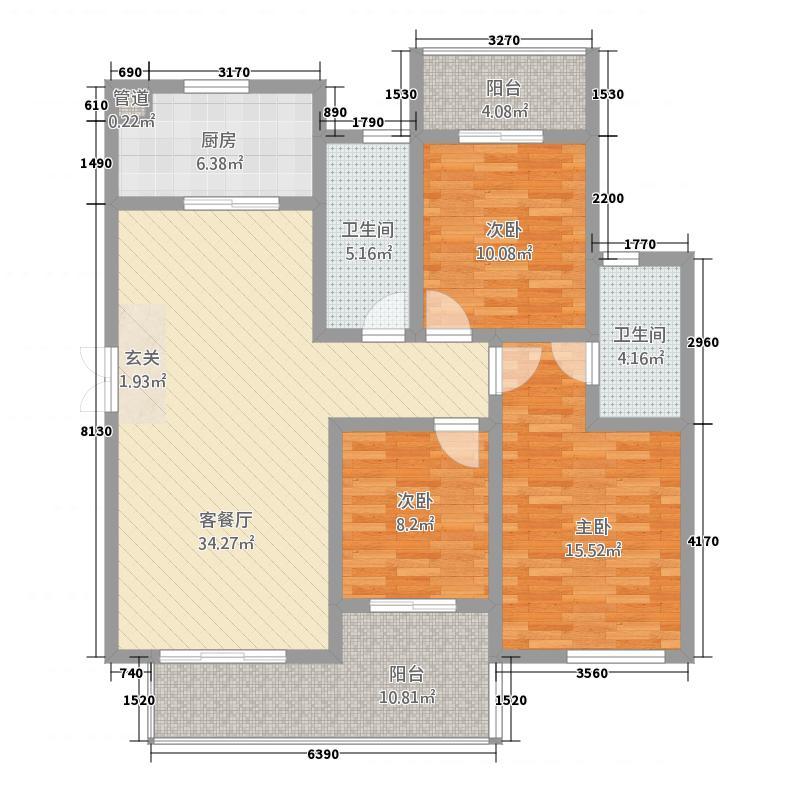 建业桂园171142.53㎡高层17/19/20号楼C/C6户型3室2厅2卫1厨