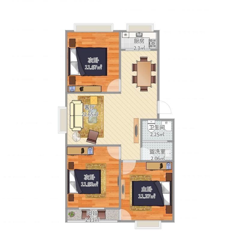 我的设计丰汇小区三室
