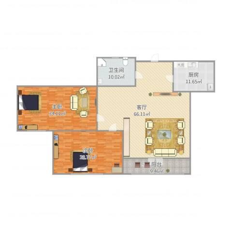 lkjsbfkjsabflkjsa2室1厅1卫1厨210.00㎡户型图