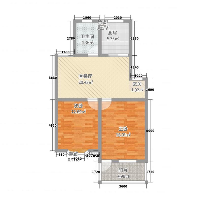 红杨花园64.00㎡户型