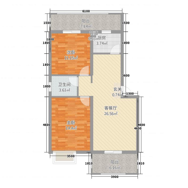 滨江世纪城27135.20㎡27C户型3室2厅1卫1厨