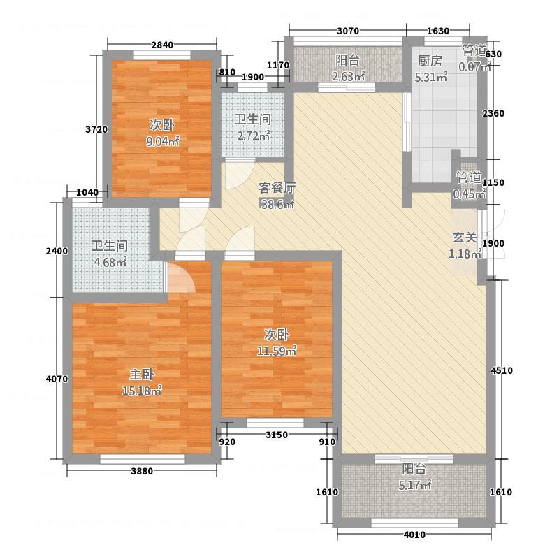 建业桂园332.20㎡3户型3室2厅2卫1厨