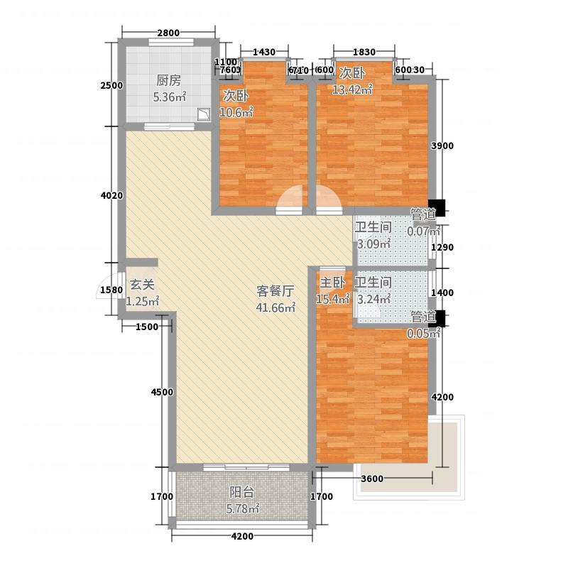 创新国际14.42㎡两位户型3室2厅2卫