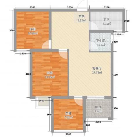 水云间3室1厅1卫1厨289.00㎡户型图