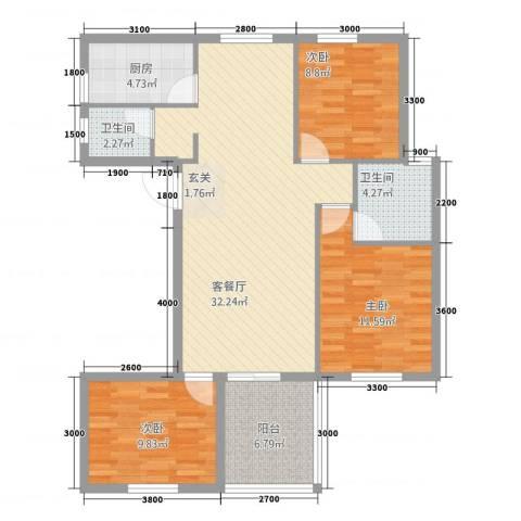 水云间3室1厅2卫1厨311.00㎡户型图