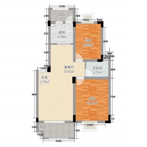 海纳国际2室1厅1卫1厨2283.00㎡户型图