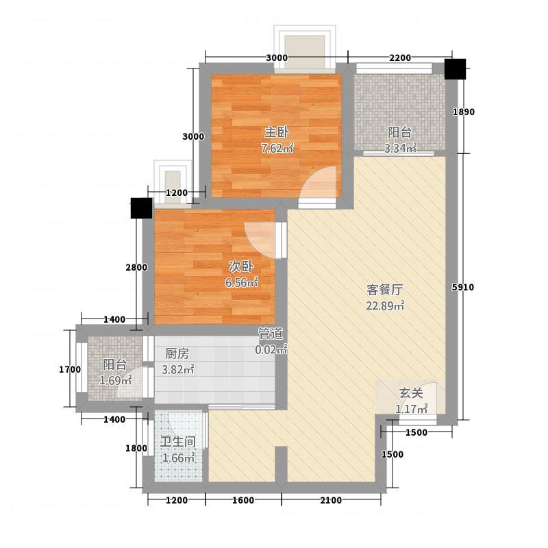 悦城・枫丹丽舍南区单张-E2户型