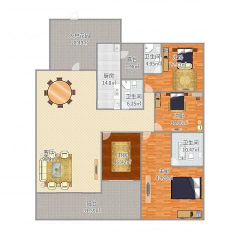 保利水城公馆4室1厅3卫1厨390.00㎡户型图