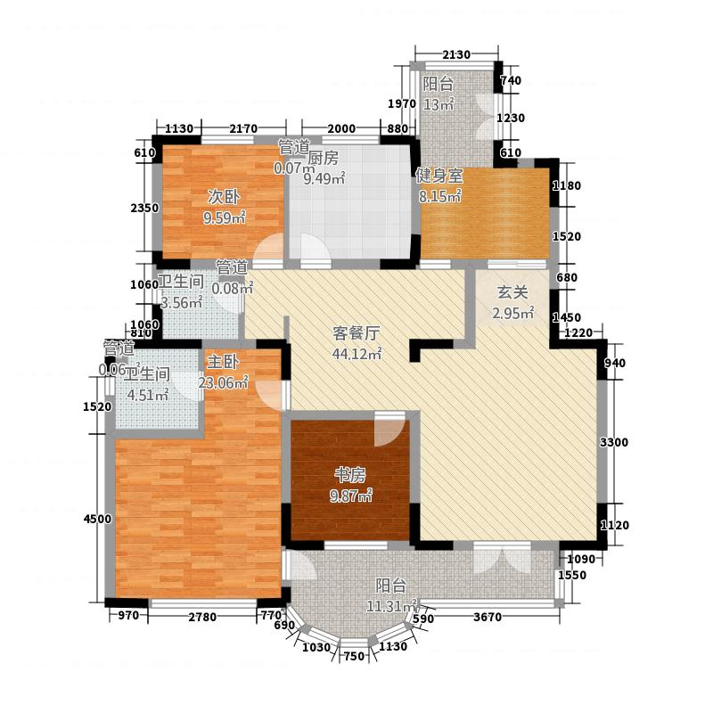 帝景豪庭4221.20㎡189户型4室2厅2卫1厨