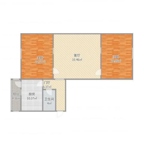 春畅里2室1厅1卫1厨137.00㎡户型图