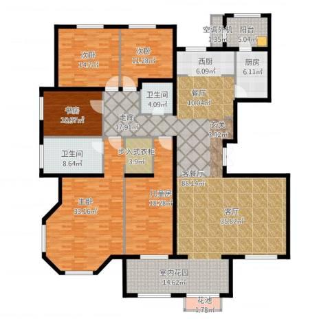 东岸国际5室1厅2卫1厨282.00㎡户型图