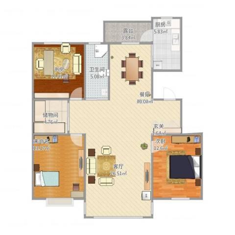 金泰春天2室1厅1卫1厨140.00㎡户型图