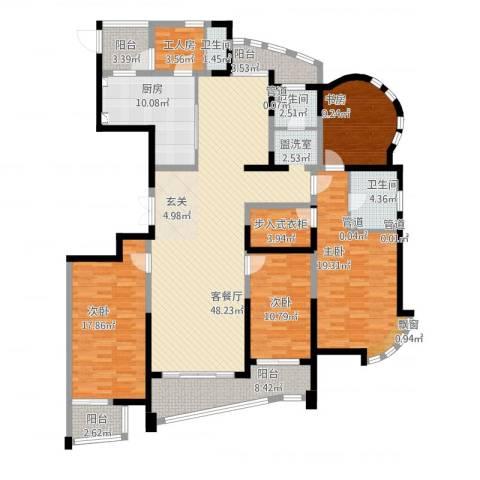 创智赢家4室1厅3卫1厨217.00㎡户型图