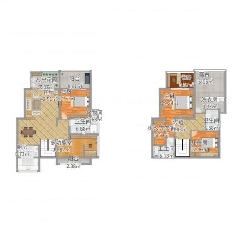 卓信龙岭4室1厅3卫1厨276.00㎡户型图