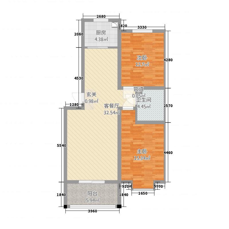 荷兰小镇1#锦瑞9098已售完户型2室2厅