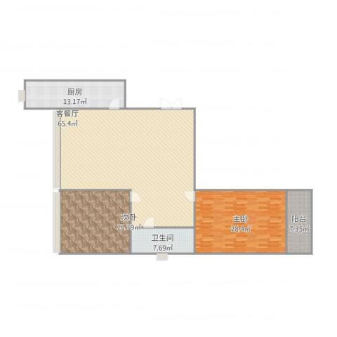乐东馨园2室1厅1卫1厨189.00㎡户型图