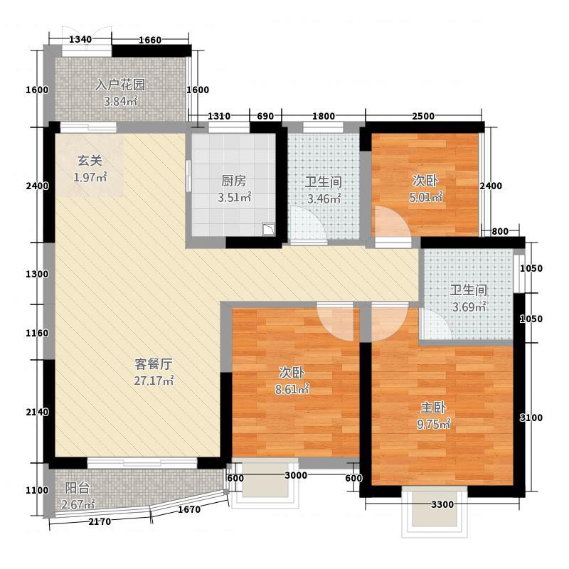 荣顾购物公园328.87㎡户型3室2厅2卫