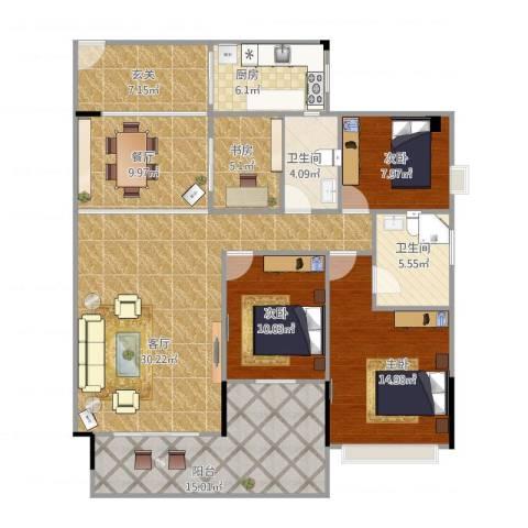 东城艺墅4室2厅2卫1厨157.00㎡户型图