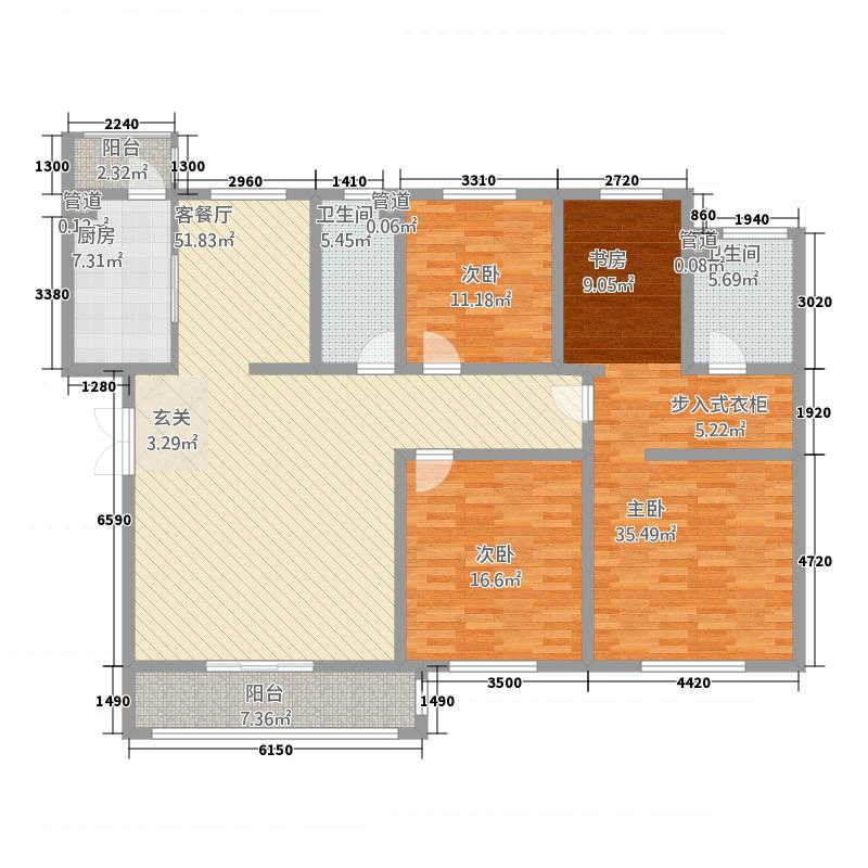 帝景豪庭4221.20㎡182户型4室2厅2卫1厨