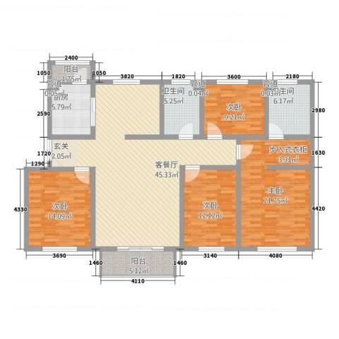帝景豪庭4室1厅2卫1厨4221.00㎡户型图