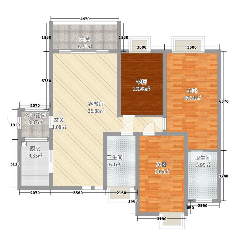 公园道1号13126.20㎡户型3室2厅21卫1厨