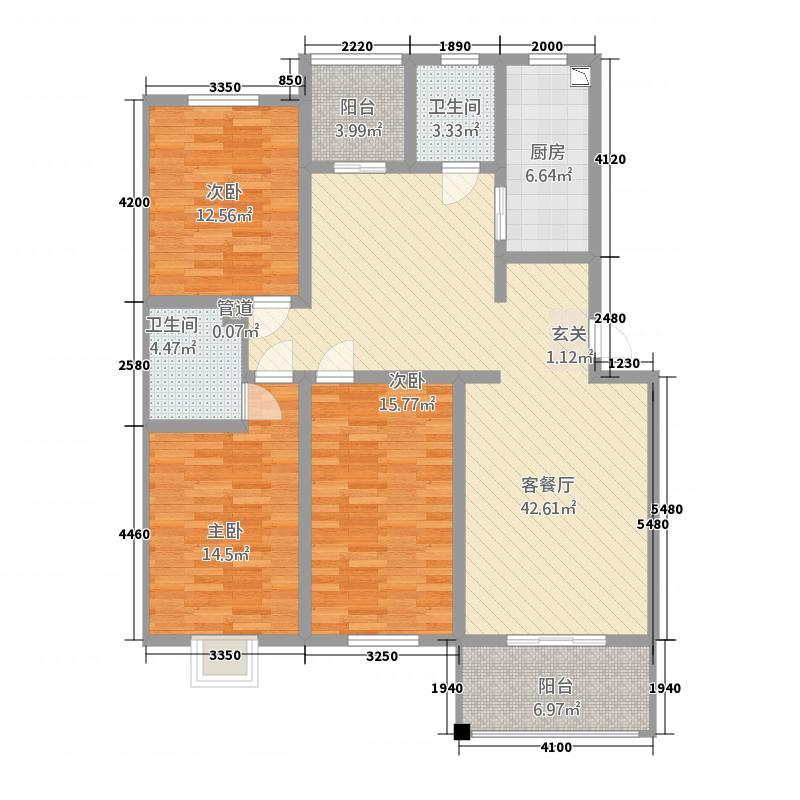 荷兰小镇1#锦瑞13365已售完户型3室2厅