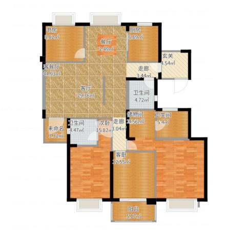 栖霞栖园4室1厅3卫1厨198.00㎡户型图