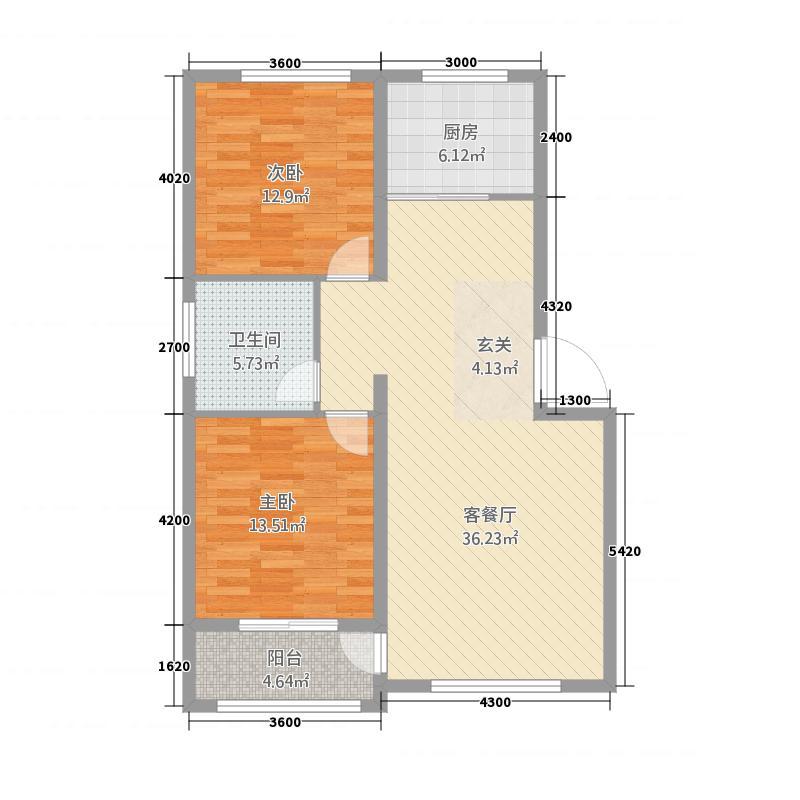 景宜花园322113.19㎡户型2室2厅1卫