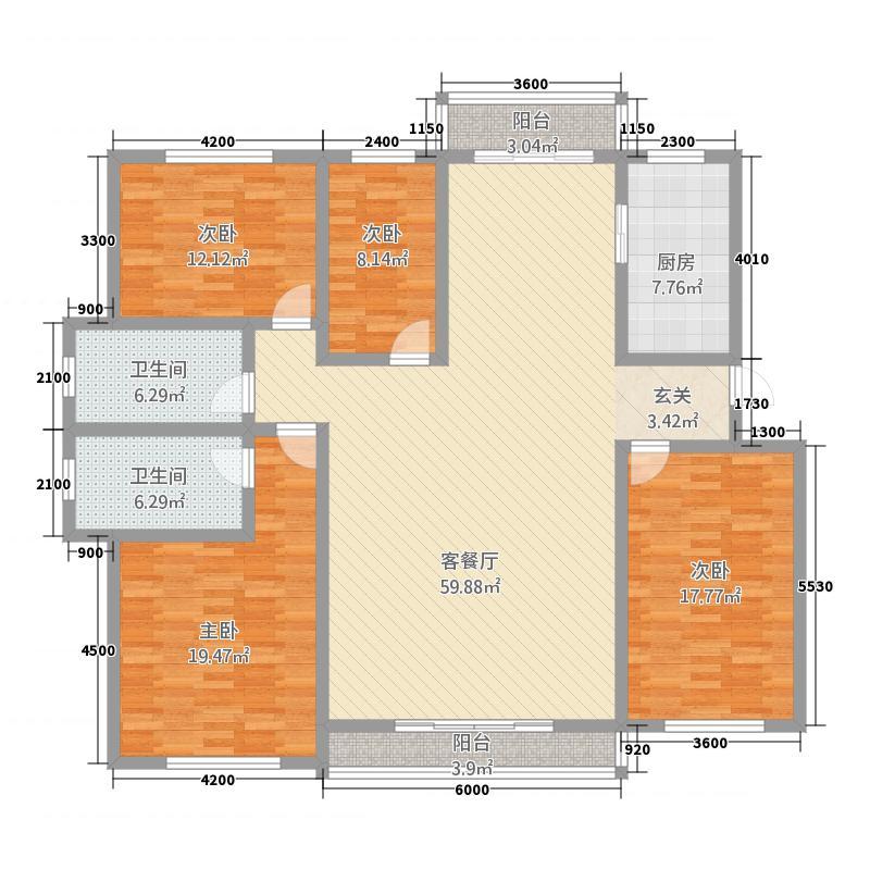 国电家园・翰林雅筑177.52㎡多层户型4室2厅2卫1厨
