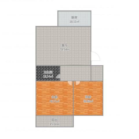 药山郡2室1厅1卫1厨302.00㎡户型图