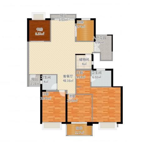 栖霞栖园4室1厅2卫1厨200.00㎡户型图