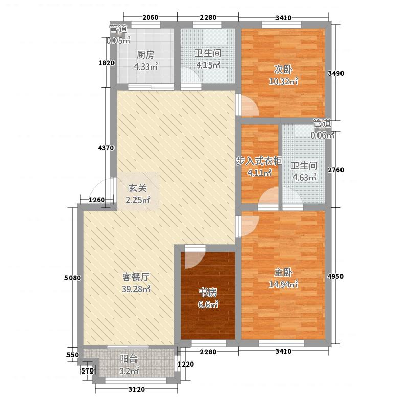 圣地亚哥23131.27㎡圣地C户型3室2厅2卫1厨