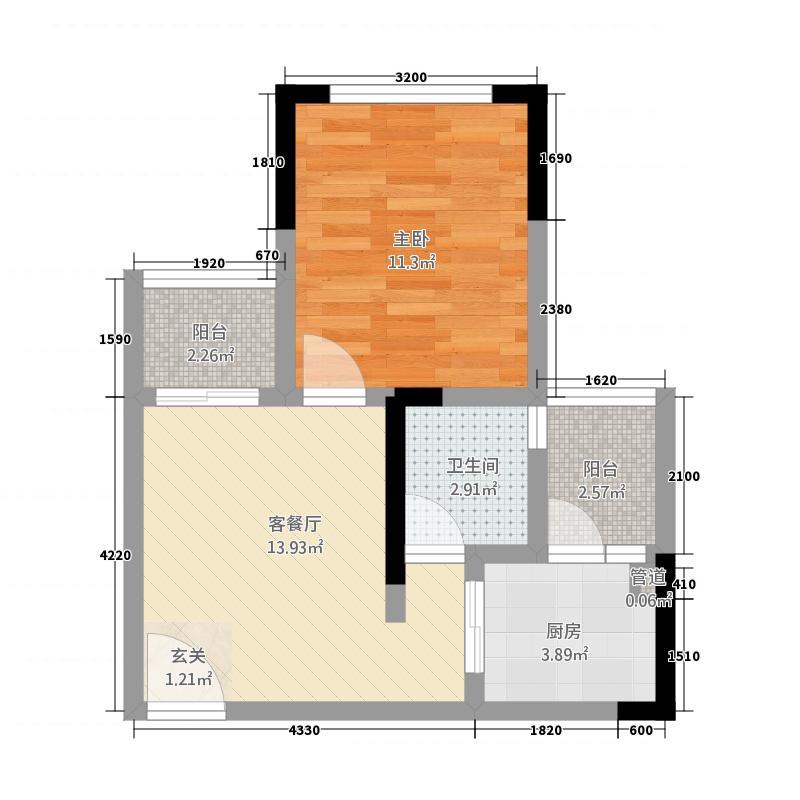 东科好望岭214.52㎡2号楼A1户型
