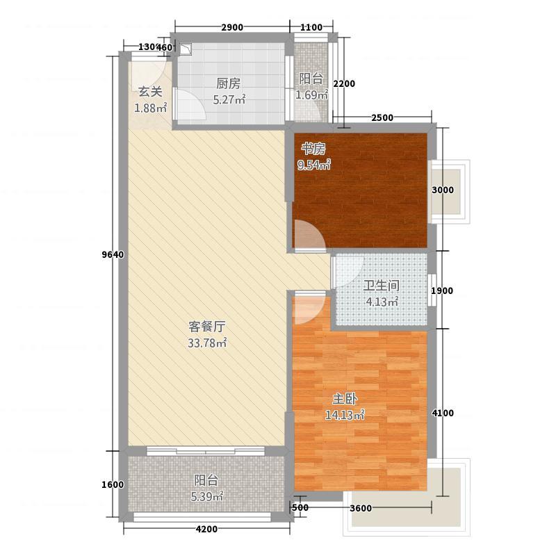 家福园18.20㎡名称A1户型2室2厅1卫1厨