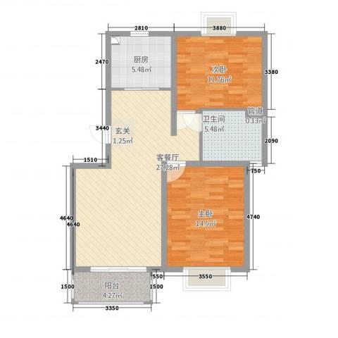 高速云水湾2室1厅1卫1厨2112.00㎡户型图