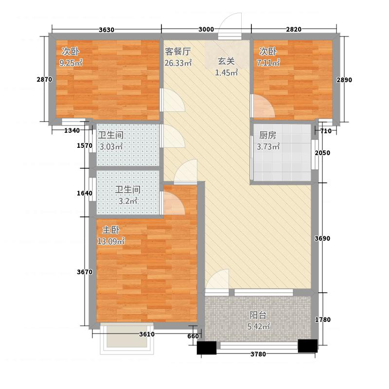 盛世龙城512.82㎡(5)户型3室2厅2卫1厨