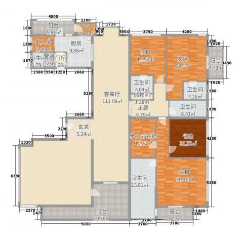 财满街财经中心4室1厅5卫1厨416.00㎡户型图