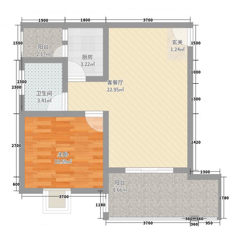 水墨江山111163.20㎡1-1-1户型1室1厅1卫1厨