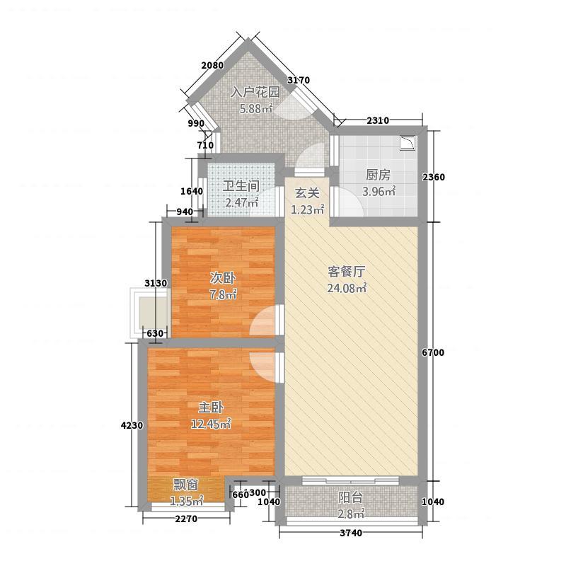 金成・源山777.44㎡b7户型2室2厅1卫1厨
