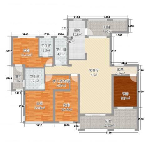 尚城国际4室1厅3卫0厨184.00㎡户型图