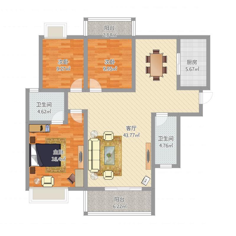 三房两厅两卫142
