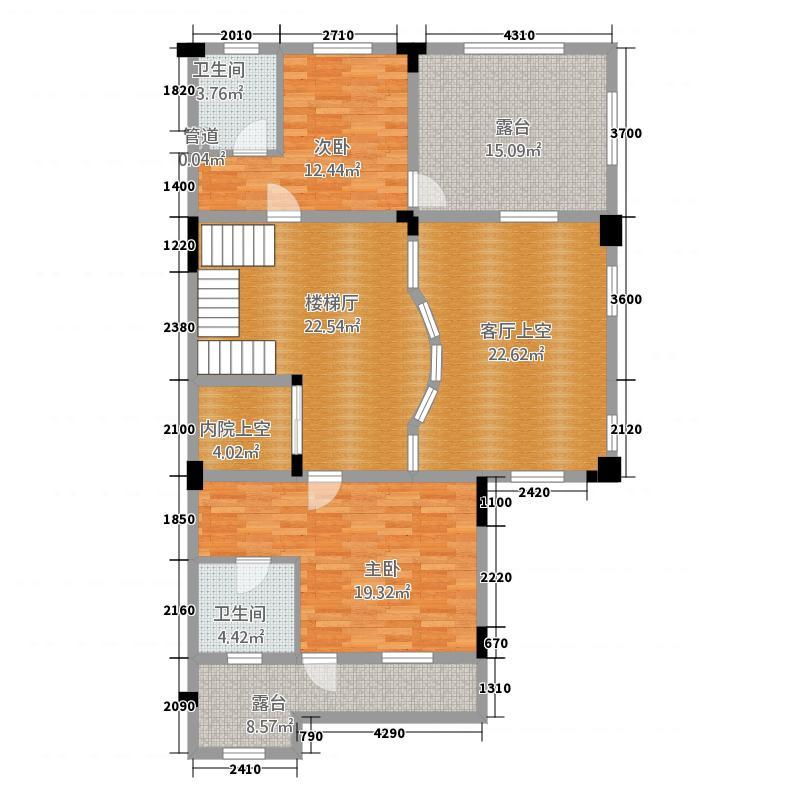 佳兆业・金域天下联排别墅02二层户型2室1厅2卫