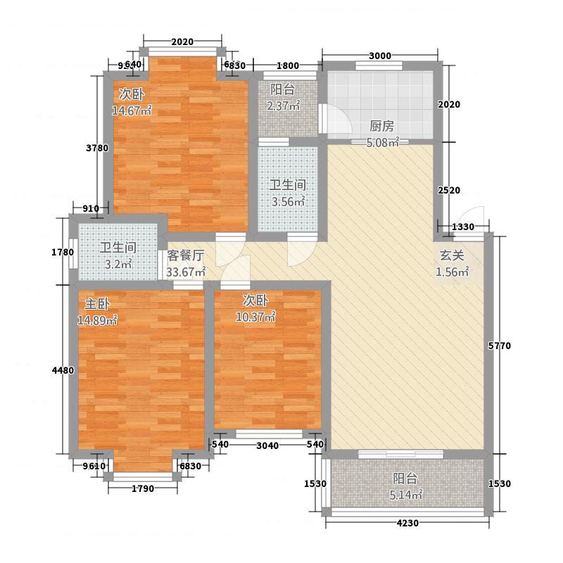 冠南・景林春天112.32㎡户型3室2厅2卫