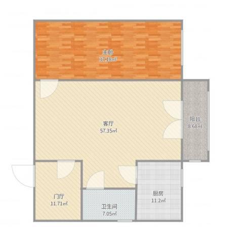裕中西里1室1厅1卫1厨175.00㎡户型图