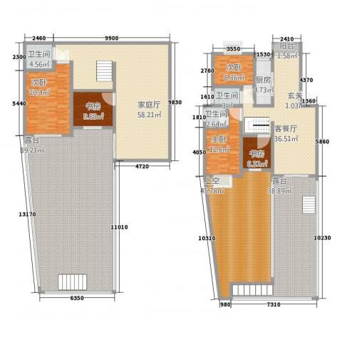 凤凰城5室1厅3卫1厨342.68㎡户型图