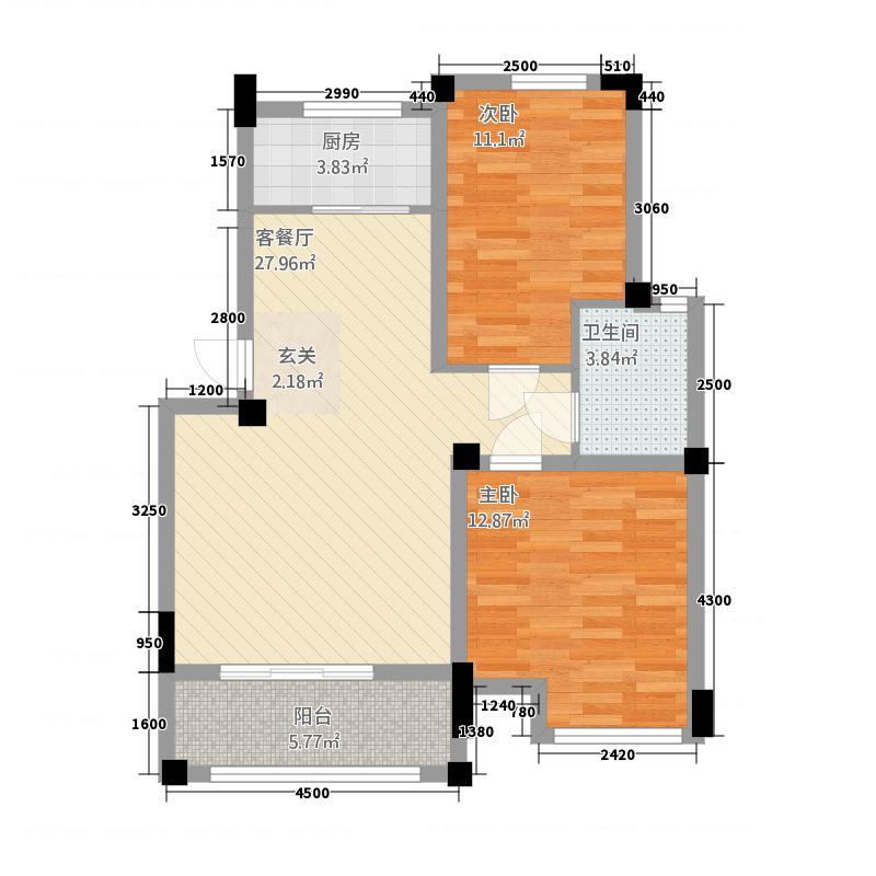 文惠苑2286.20㎡户型2室2厅1卫1厨