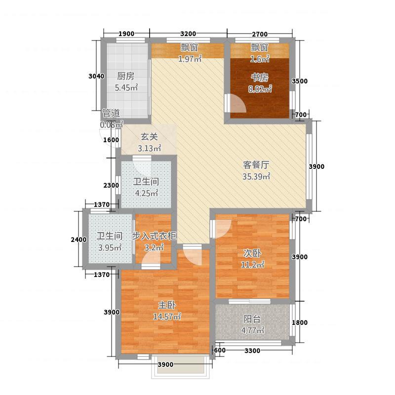 和欣家园3112.20㎡户型3室2厅2卫1厨