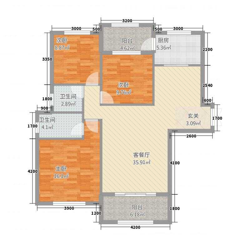 固原COCO蜜城232131.55㎡户型3室2厅2卫1厨